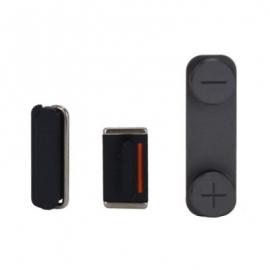 3 Tasten / Knöpfe / Button Set für iPhone 5 - Graphit Schwarz