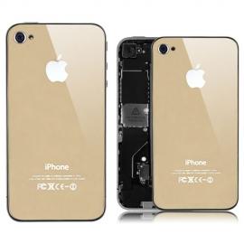iPhone 4 Spiegel Backcover / Rückseite - Gold