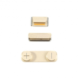 iPhone 5S - 3in1 Tasten Knöpfe Set (Power/Volume/Mute) - Gold / Champagner