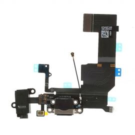 iPhone 5C Audio Flex / Lightning Dock Connector Flex + Mikrofon - Schwarz