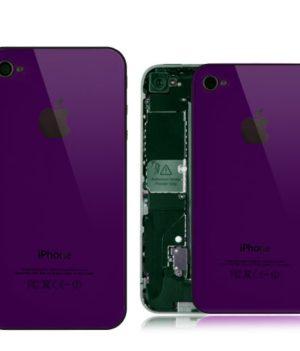 iPhone 4S Spiegel Backcover / Rückseite - Lila Violett
