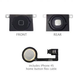 iPhone 4S Home Button Flexkabel + Home Button Schwarz