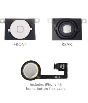 iPhone 4S Home Button Flexkabel + Home Button Weiss