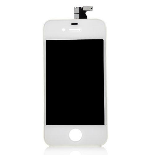 iPhone 4 Retina LCD und Digitizer Front - Weiss+ Staubschutz