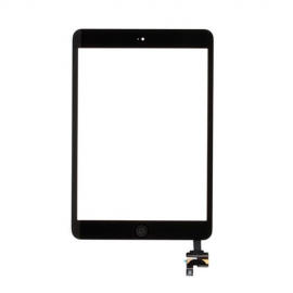iPad Mini Touchscreen Glas Digitizer mit IC Connector komplett - Schwarz