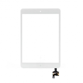 iPad Mini Touchscreen Glas Digitizer mit IC Connector komplett - Weiss