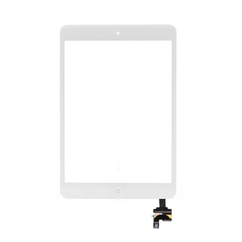 iPad Mini Touchscreen Glas Digitizer mit IC Connector komplett - Weiss