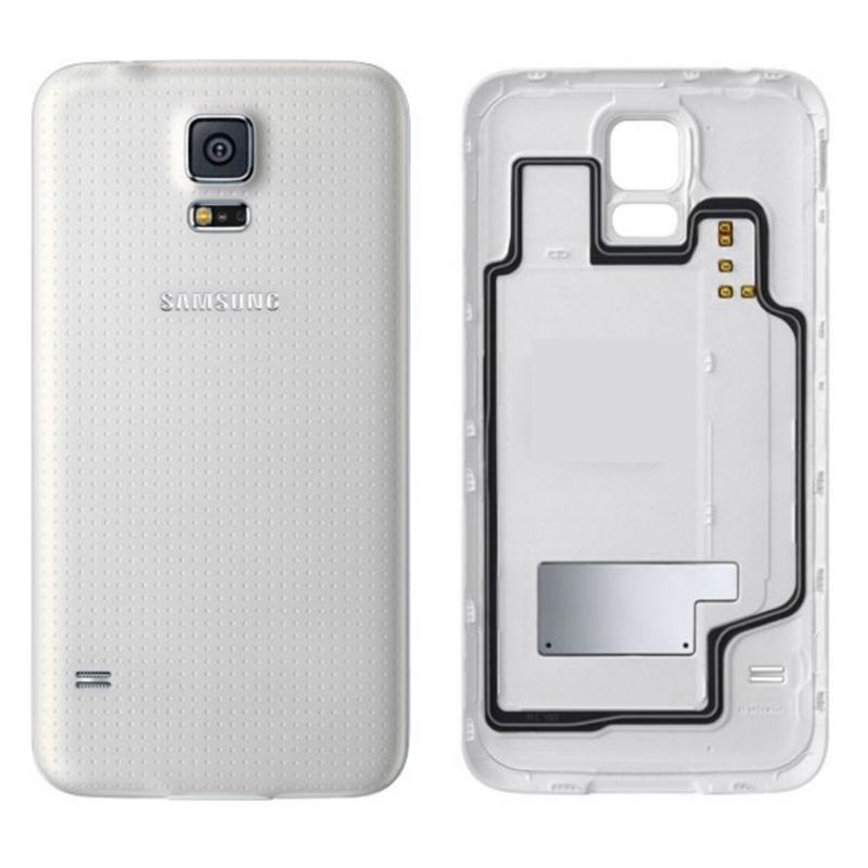 Samsung Galaxy S5 Ersatz Rückseiten Weiss Ohne WIFI Bausatz