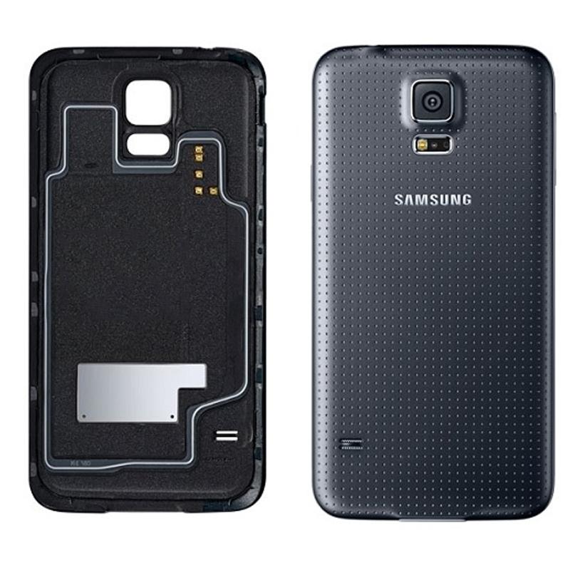 Samsung Galaxy S5 Ersatz Rückseiten Schwarz Ohne WIFI Bausatz