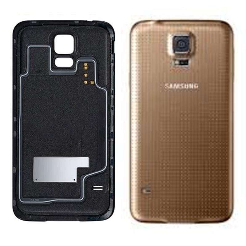 Samsung Galaxy S5 Ersatz Rückseiten Gold Ohne WIFI Bausatz