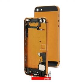 iPhone 5S Alu Backcover / Rückseite mit Mittelrahmen - Bronze / Schwarz