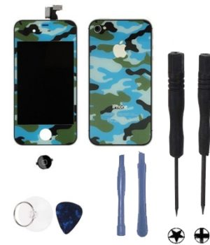 iPhone 4 Umbauset mit Tool Kit - Camo-Blau