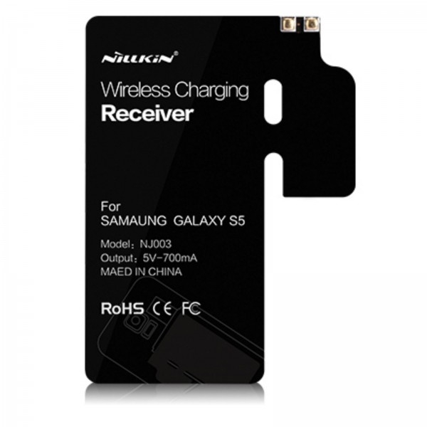 Qi Wireless Charging Standard-Receiver-Modul für Samsung Galaxy S5 - Schwarz
