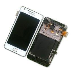 Samsung Galaxy S3 i9100 LCD und Digitizer Front + Rahmen - Weiss