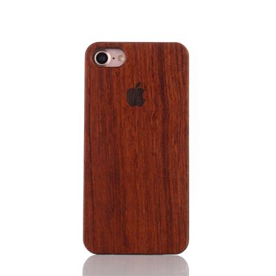 iphone 7 8 bambus holz h lle braun apple logo muster. Black Bedroom Furniture Sets. Home Design Ideas